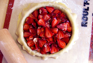 strawberries just placed in dough | by Jess | Sweet Amandine