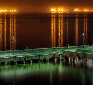Port of Long Beach at night | by kevin dooley