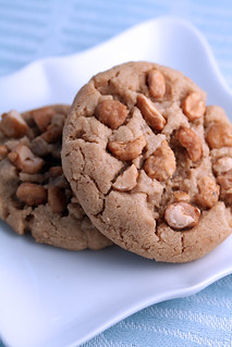 Salted Peanut Butter Toffee Cookies | by Sweetness in Seattle
