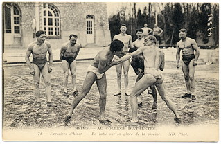 Cool Wrestling (c.1910) | by postaletrice