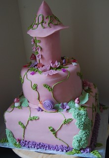 Enchanted pink princess tower birthday cake | by camellia kelly