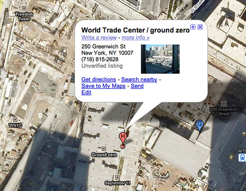 Ground Zero on Google Maps | by rustybrick