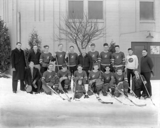 Canadian White Pine Hockey Club - Champions Marpole Hockey League - 1935-36 | by City of Vancouver Archives