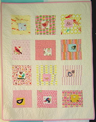 Square in Square Baby Girl Quilt | by alissahcarlton