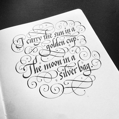 I carry the sun in a golden cup moon silver bag