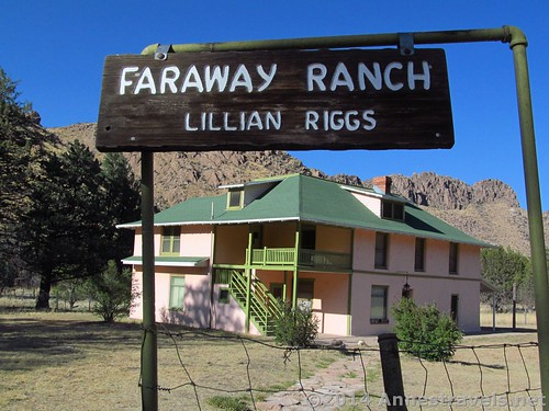 Sign at Faraway Ranch in Chiricahua National Monument, Arizona