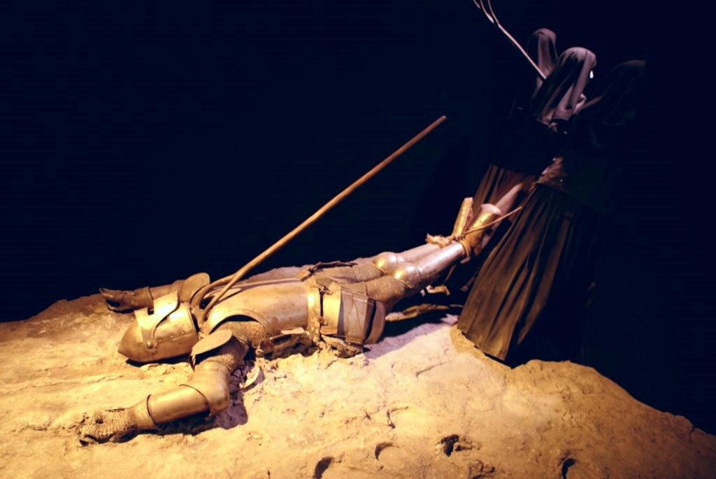 Révolte à Barcelone : religieux contre chevaliers pendant la guerre des faucheurs en 1640 (?). Reconstitution au musée de Catalogne à Barcelone.