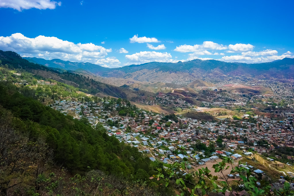 Blue Skies over Tegucigalpa, Honduras