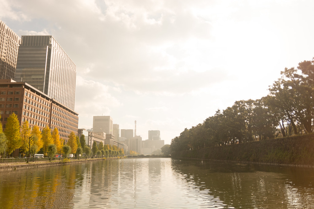 Tokyo Marunouchi Skyscraper and Imperial Palace
