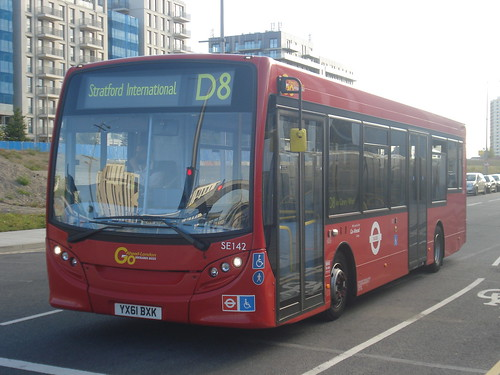Docklands Buses SE142 on Route D8, Stratford International
