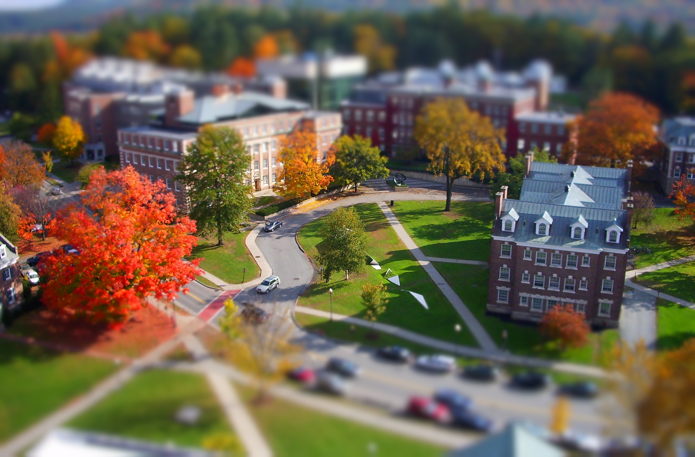campus life - tilt shift