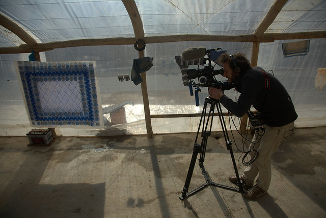 Shooting of a film in Afghanistan
