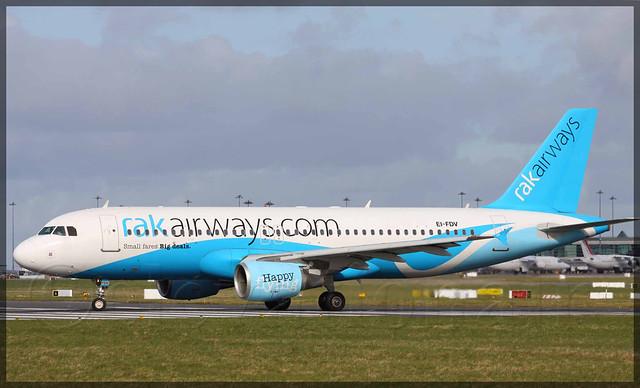 EI-FDV Airbus A320-214 RakAirways (Ex A6-RKC)