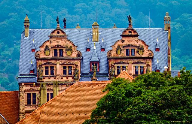Schloss Heidelberg - Friederichbau - Dachgauben Hoffseite