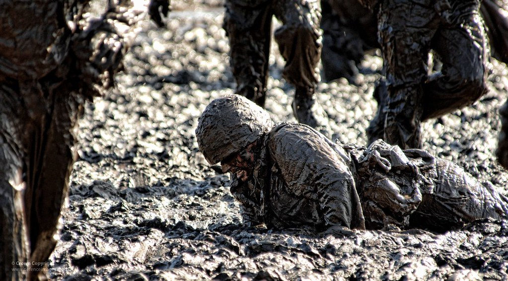 image of marine stuck in the mud
