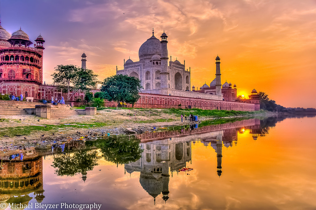 Taj Mahal Sunset Reflections