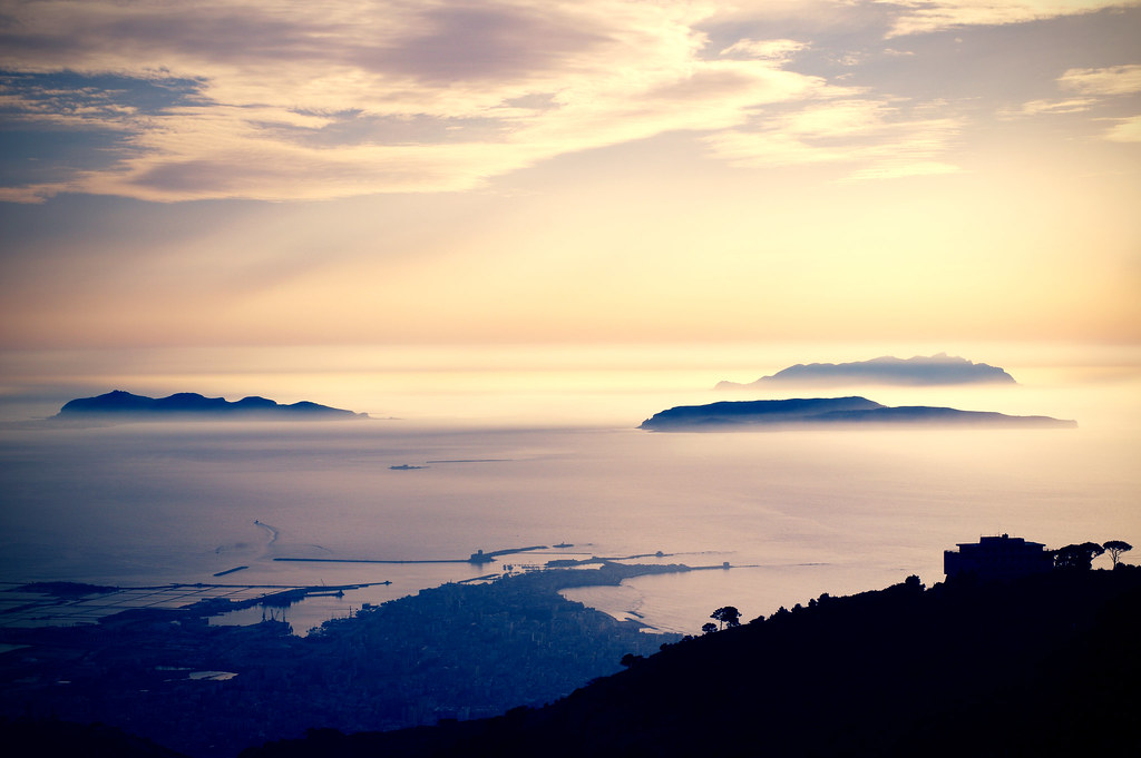 Favignana Levanzo And Marettimo, View From Erice