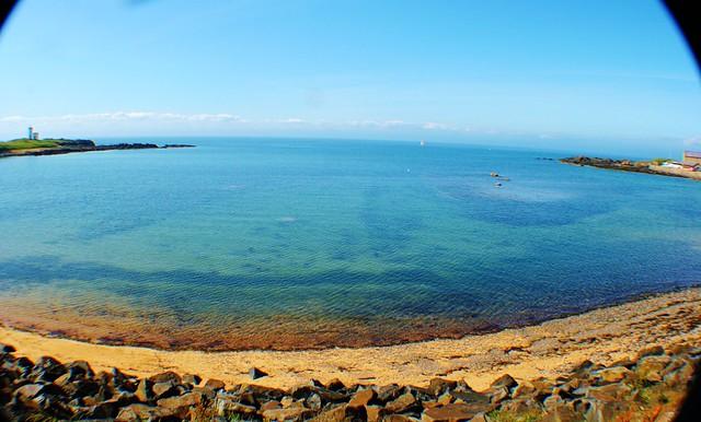 Elie beach and coastline, Fife, Scotland.