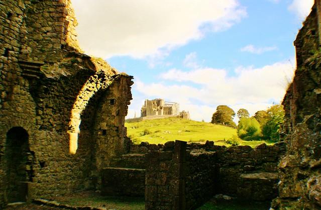 Rock of Cashel from Hore Abbey, Ireland.