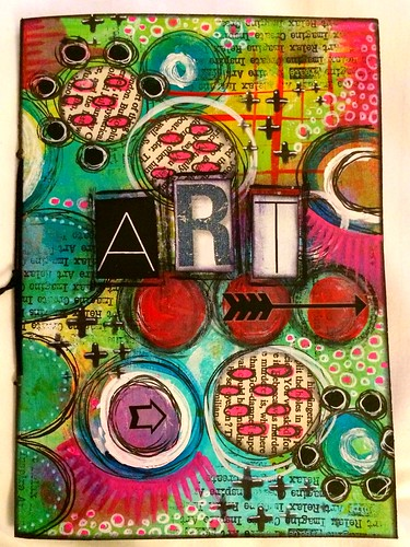 Art Book Front Cover : Small handmade art journal front cover tracy scott