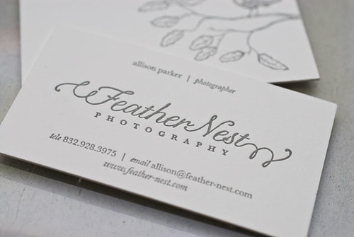 Feather Nest Photography :: Business Cards | by Luxecetera