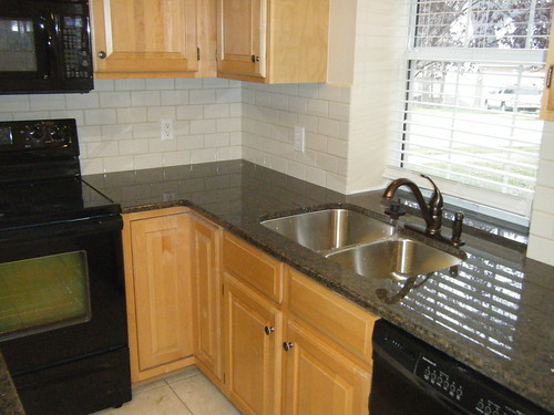 Tropic Brown Granite Counter top with Tile Backsplash | Flickr