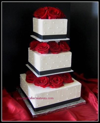 Square Wedding Cake Size Chart