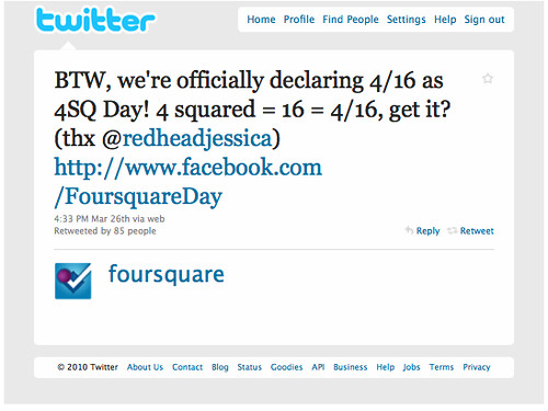 Foursquare Day Becomes Official | by 4sqday