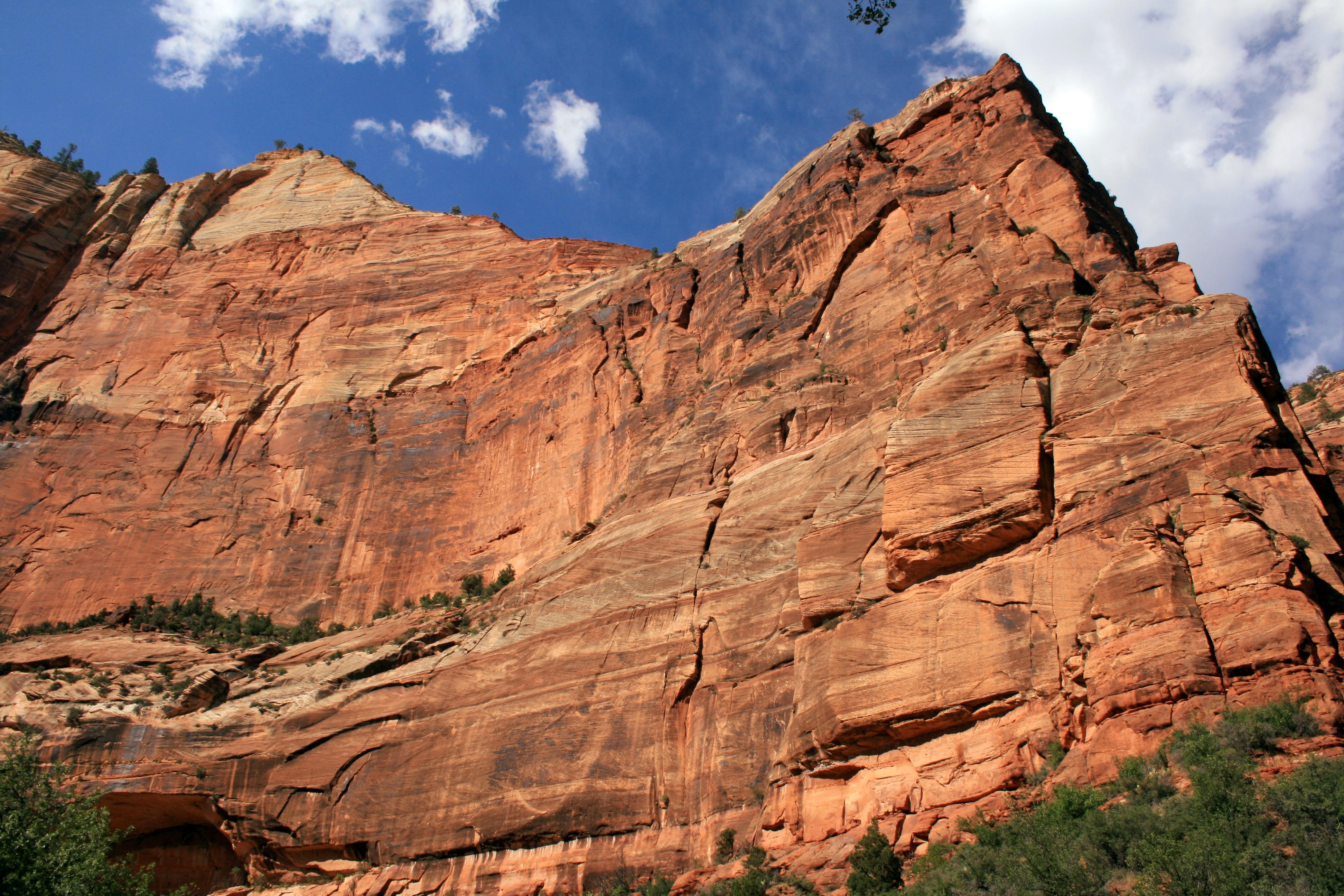 Zion cliffs stands out