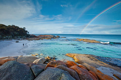 Rainbow Bay of Fires Tasmania | by john white photos
