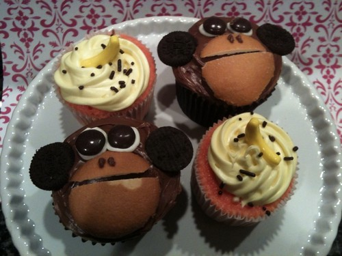Monkey Cupcakes | by Melody @ Party Cupcake Ideas