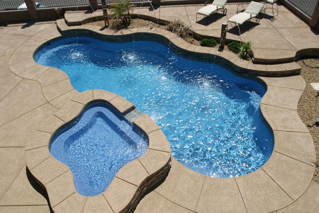 Viking pools raised model inground fiberglass spa flickr for 3d pool design free