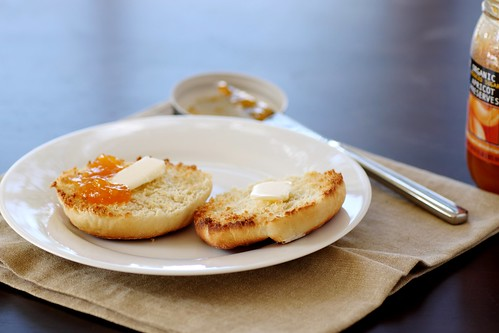 english muffin with butter and preserves | by Stacy Spensley