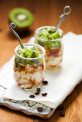 kiwi,coffee and ricotta dessert | by sarsmis