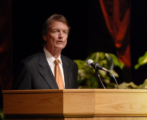 Delivering the State of the University Address | by Tower Talk