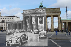 Adolf Hitler at the Brandenburg Gate (Brandenburger Tor), Berlin - August 1st 1936 - Opening of the Summer Olympic Games - Looking Into The Past | by Gordon Calder - 5 Million Views - Thanks!