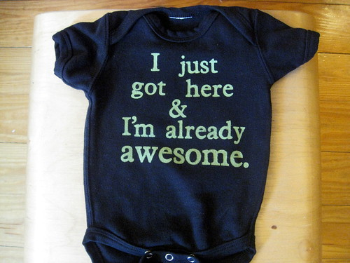 onesie for baby porter. | by Laura Hartrich