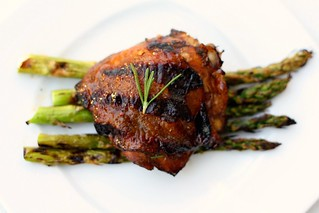Lemon Rosemary & Balsamic Grilled Chicken Thighs | by Tracey's Culinary Adventures