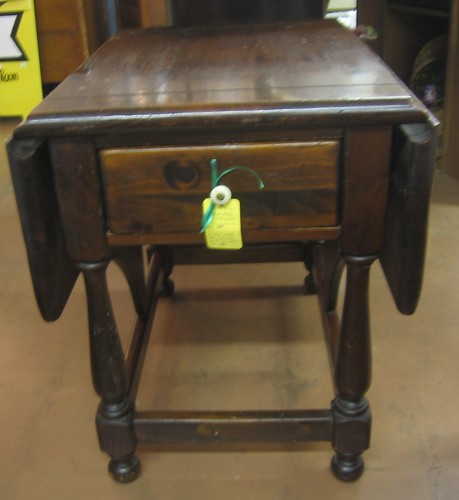 Map Coffee Table Ethan Allen: SOLD: Ethan Allen Pine Drop-leaf End Table