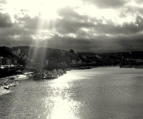 Sunlight on Whitby marina | by Andreadm66