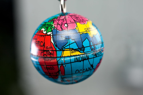 Macro of tiny Earth globe hanging on key chain | by Horia Varlan