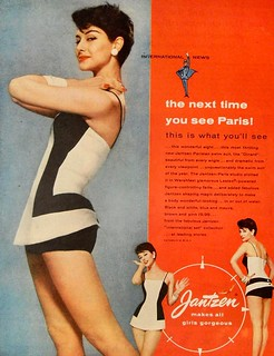 1950s JANTZEN women ladies woman swimsuit bathing suit vintage fashion photo advertisement | by Christian Montone