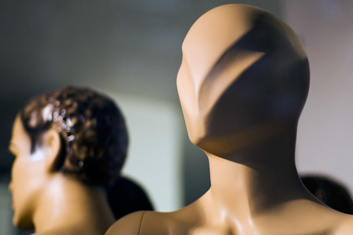 Plastic mannequin head with futuristic v shape | by Horia Varlan
