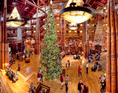 A Panorama of Disney's Wilderness Lodge Lobby | by Samantha Decker