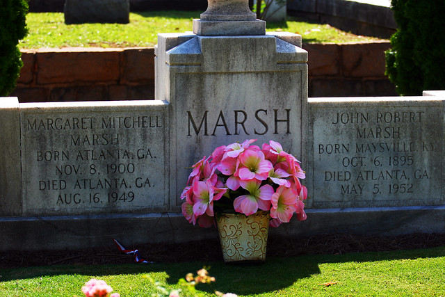 Margaret Mitchell and her husband's tombstones
