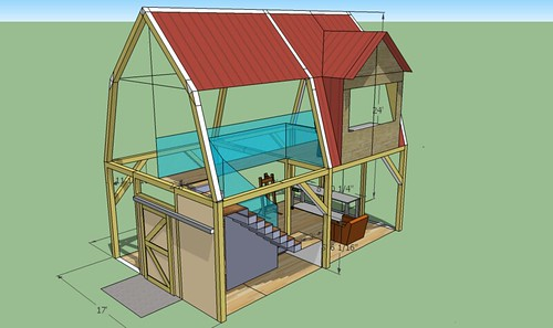 Timberframe studio 10 ceiling gambrel roofd coille mor