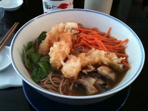 Rice & Fish: Soba with prawns | by clotilde