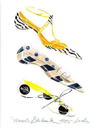 Navy Satin Flat Shoes