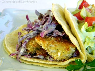Coconut Shrimp Tacos with Avocado Buttermilk Cole Slaw | by CinnamonKitchn