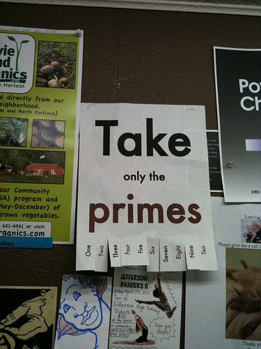 Take only the primes | by Jesus H. Shatner